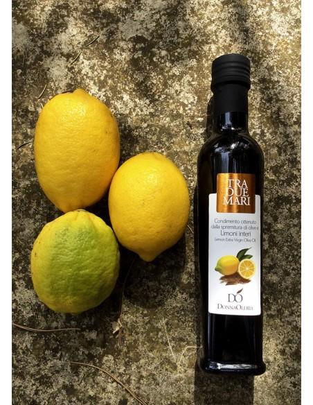 DonnaOleria - Spremitura di Olive e Limoni interi estratto a freddo Prodotto Italiano 100ml Sapori Salento