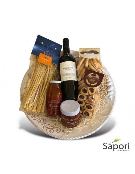 Cesto Otranto Libeccio agroalimentare prodotti salentini da Sapori Salento